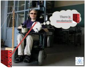silla de ruedas para ciegos