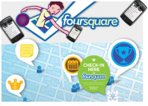 Foursquare, red social que moviliza