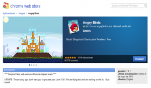 angry birds en chrome web store