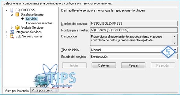 SQL Express Servicio