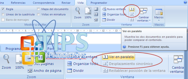 Ver paralelo office excel