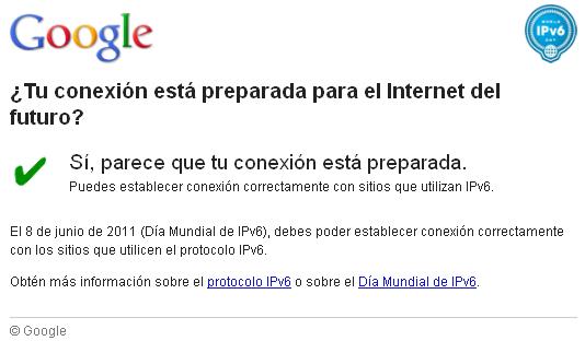 google internet del futuro ipv6