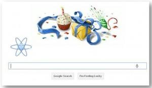 El feliz Cumpleaños de Google