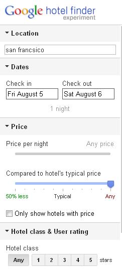Google buscador de hoteles