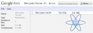 Google docs rar zip