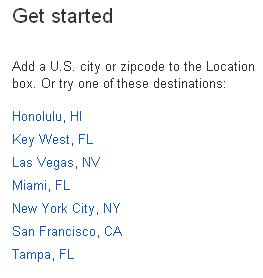 buscador de hoteles google cuidades Estados Unidos