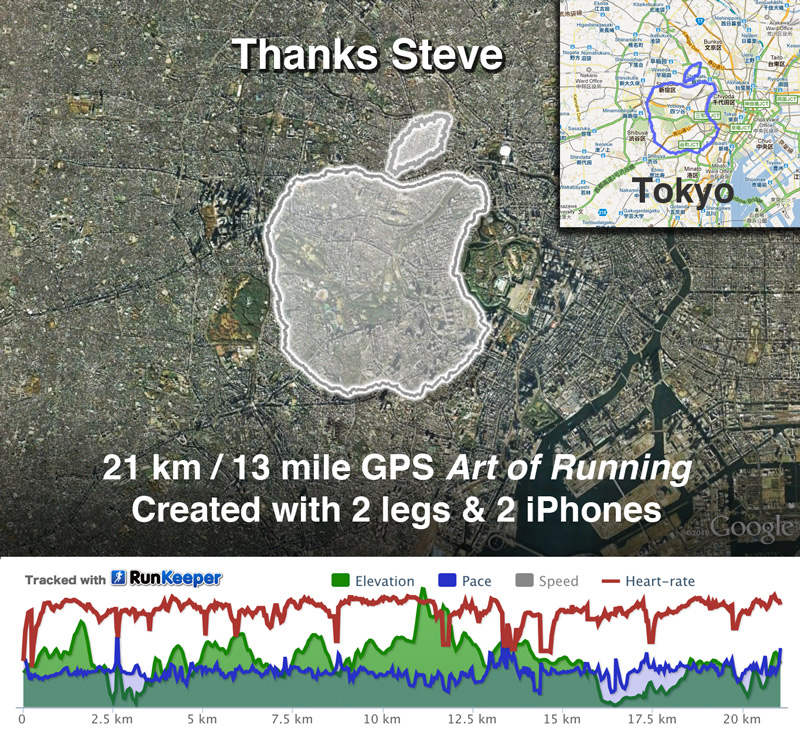 Arte de correr Joseph Tame Homenaje a Steve Jobs Apple