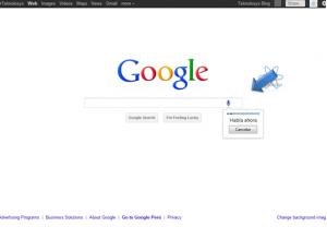 Buscar por voz en google