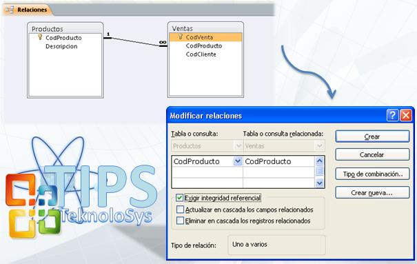 Modificar relaciones Access 2010