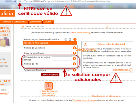 Phishing al banco