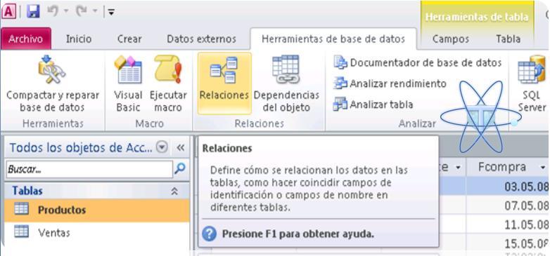 crear Relaciones de tablas access