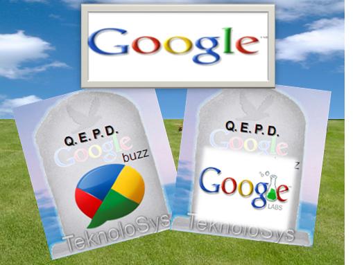 Adios Google buzz y google labs