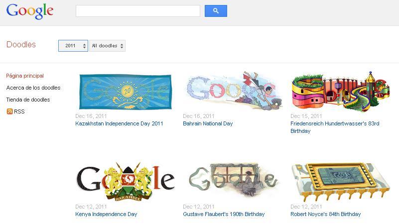 Google Doodles site