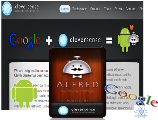 Google adquiere Clever Sense , Alfred