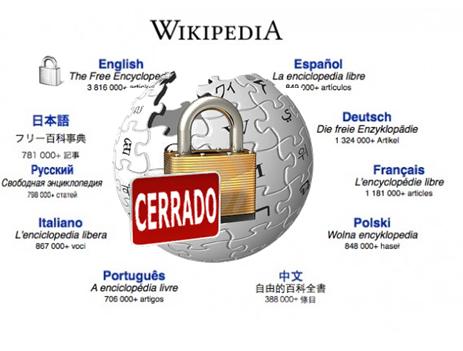 Wikipedia podria cerrar