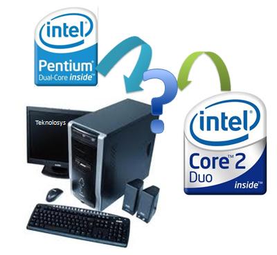 Diferencia dual Core  y Core 2 Duo