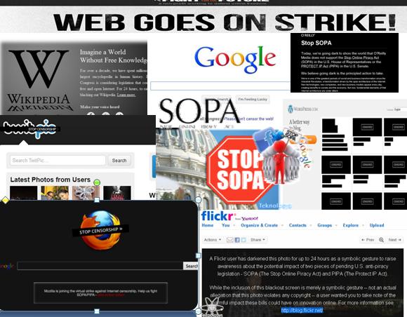 Empresas protestan SOPA
