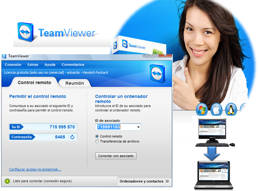 Accede a otra pc Teamviewer