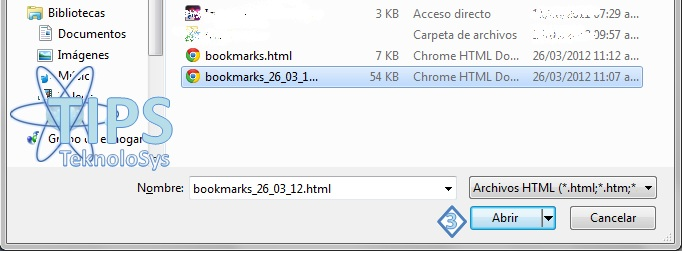 Abrir Marcadores Firefox