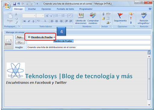 Crea Lista Distribucion outlook