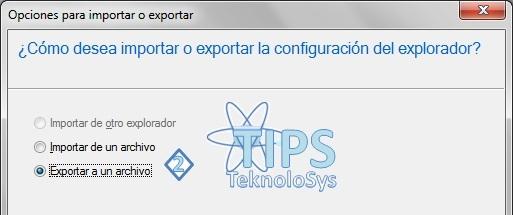 Exportar Marcadores Internet Explorer 9