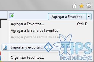 Exportar Marcadores Internet Explorer