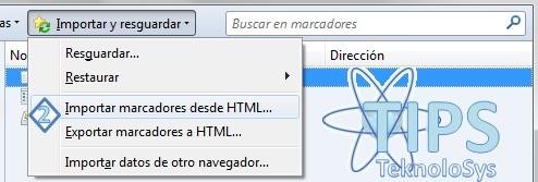 Importar Marcadores Firefox