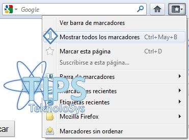 Mostrar Marcadores Firefox