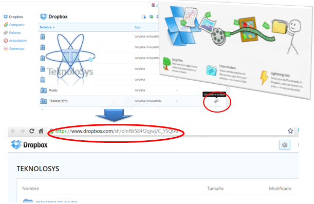 Compartir enlace en Dropbox