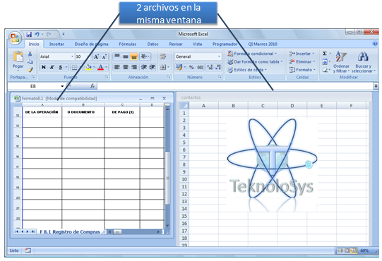 Archivos Excel distintas ventanas