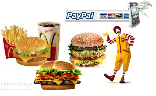 Paga Mcdonalds con paypal