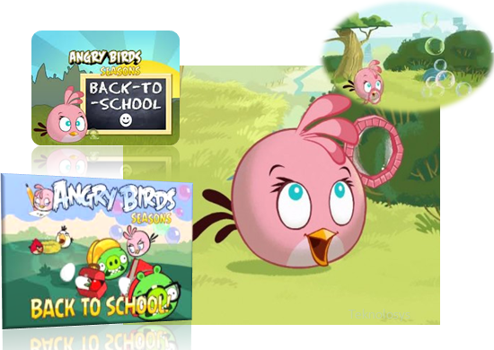 Pink bird in Angry Birds