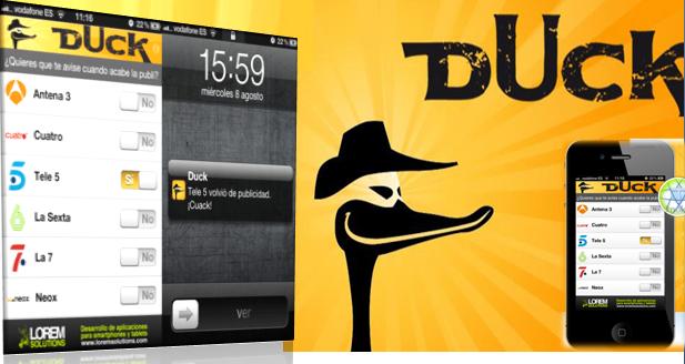 Duck salta el anuncio publicario