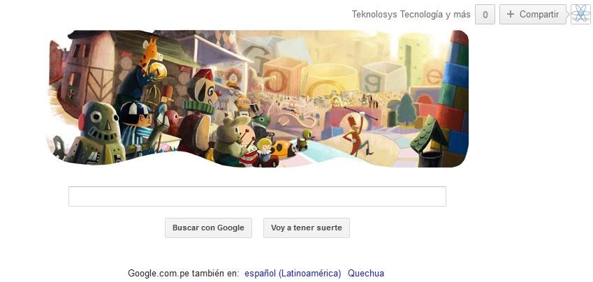 Google desfile navidad Doodle