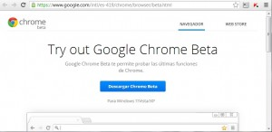 Chrome Beta 25 voz