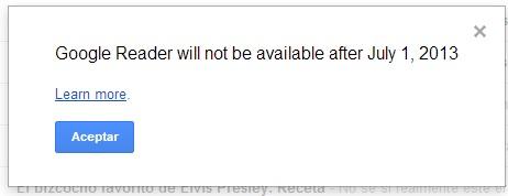Google Reader Baja