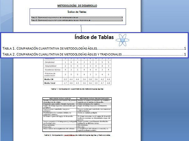 Crear Indice Tabla Word 3