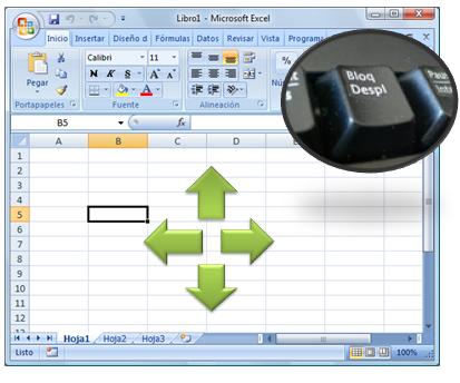 No puedo mover en Excel