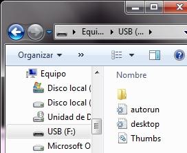 Contenido oculto USB