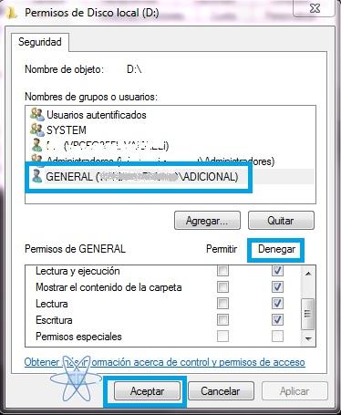 Configurar permiso