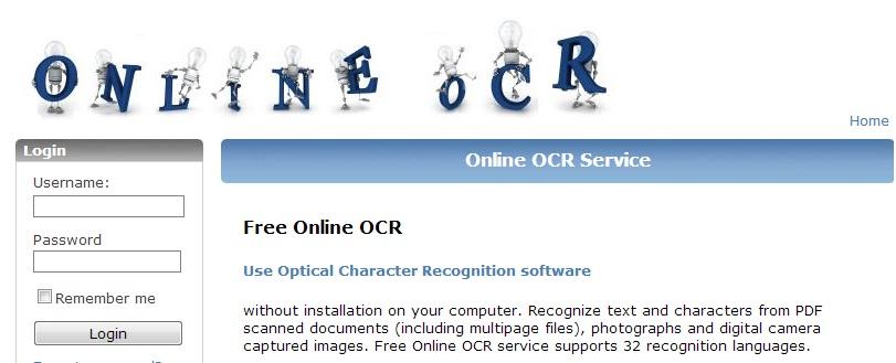 Online Free OCR