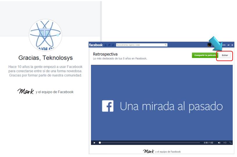 Edita tu historia Facebook
