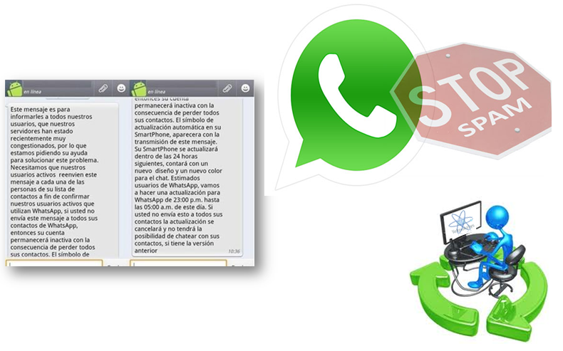 mensajes spam whatsapp