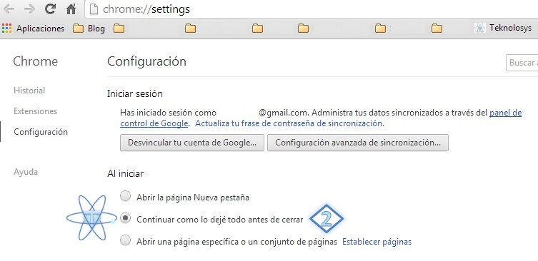 Recuperar pestañas Chrome