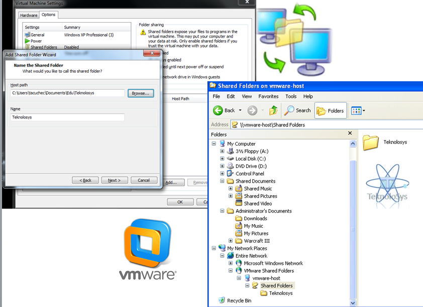 Compartir carpetas vmware local