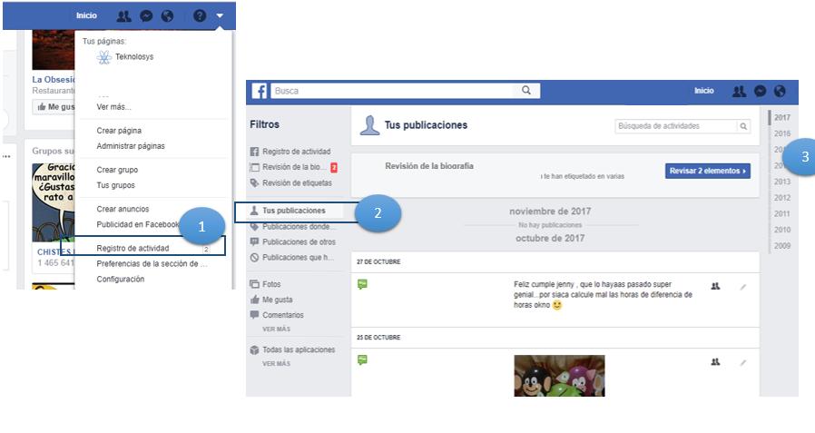 Ver solo tus publicaciones de Facebook